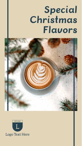 Christmas Coffee Facebook story