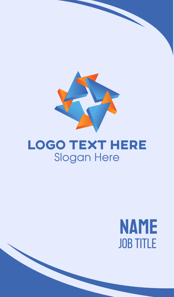 Triangle Star Business Card
