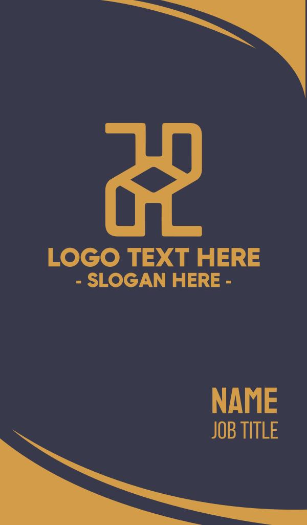 Elegant Letter H Business Card