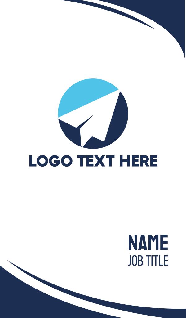 Blue Paper Plane Business Card
