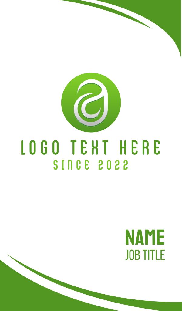 Leaf Letter A Business Card