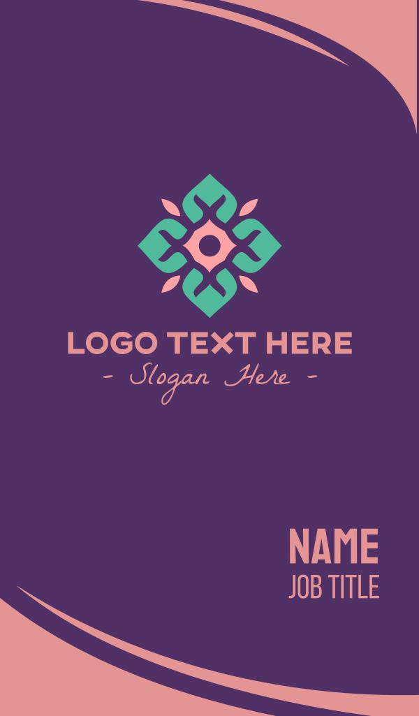 Flower Tile Business Card