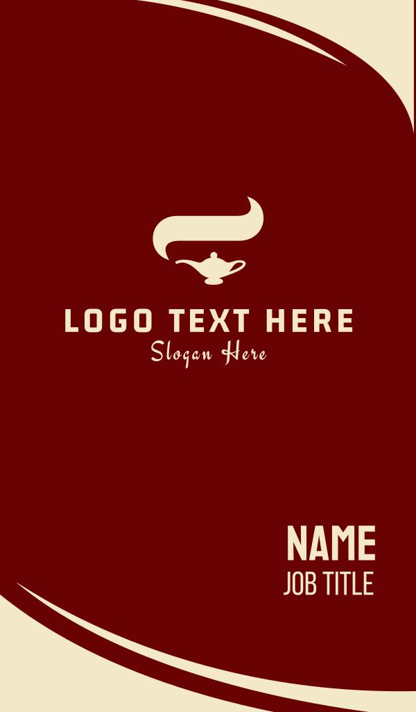 Arabian Lamp Business Card