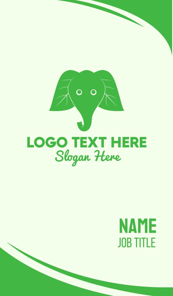 Elephant Ear Leaves Business Card
