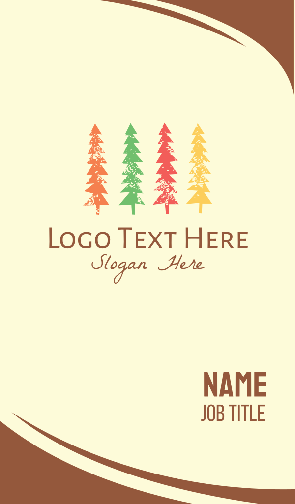 Colorful Pine Tree Business Card