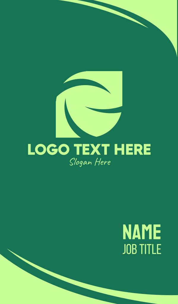 Green Eco Company Business Card