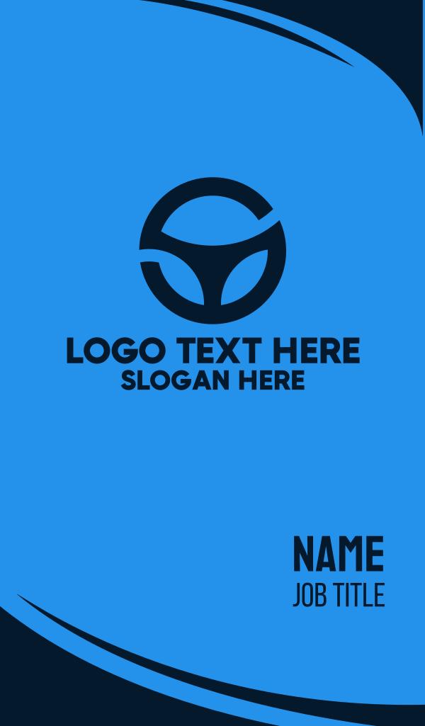 Letter S Steering Wheel Business Card