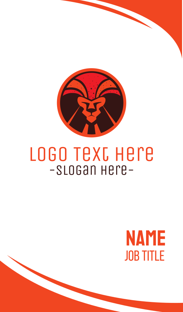 Magma Lion Business Card