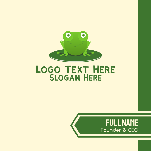 Green Pond Frog Business Card