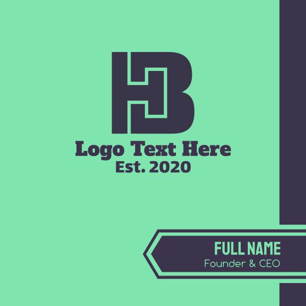 H & B Monogram Business Card