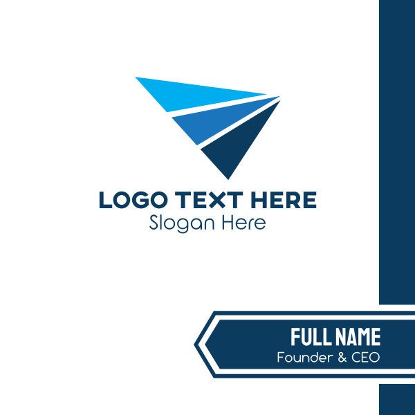 Generic Trio Triangles Business Card