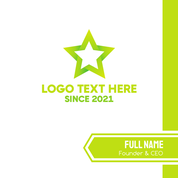Green Star Business Card