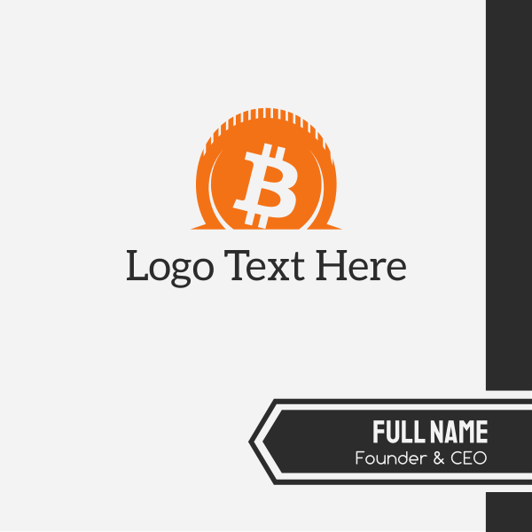 Orange Bitcoin Savings Business Card