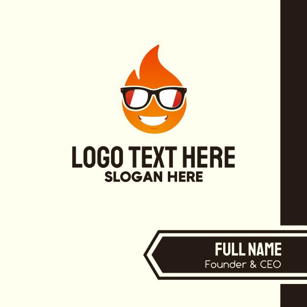 Cool Fire Emoji Business Card