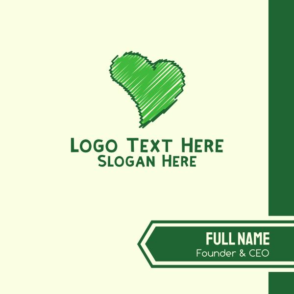 Green Love Business Card