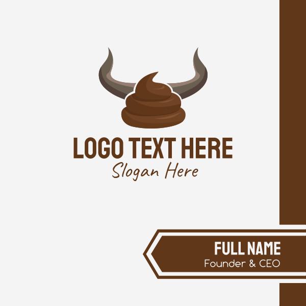 Bull Horn Crap Business Card