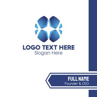 Blue Cross Mosaic Business Card
