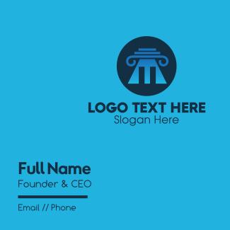 Professional Business Pillar Pyramid Business Card