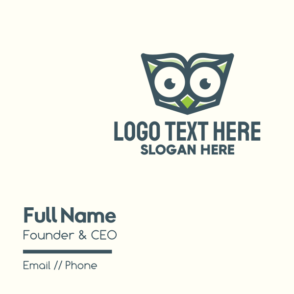 Owl Book Read Business Card