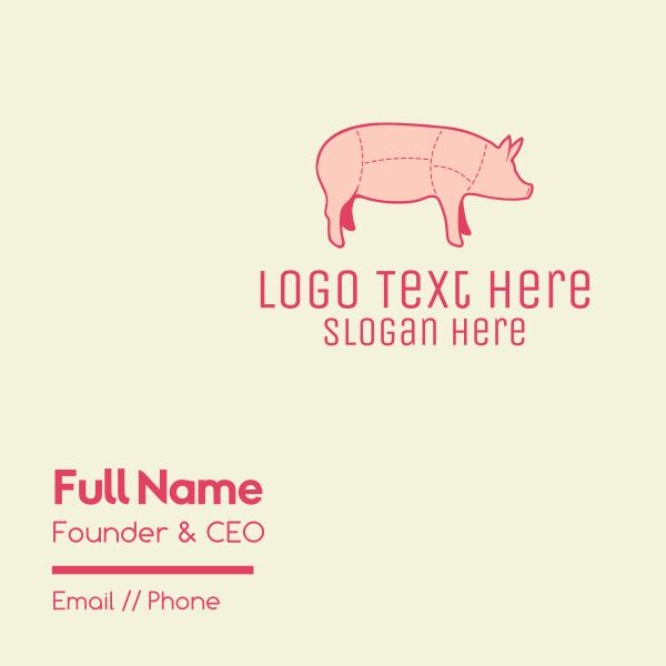 Pig Butcher Meat Shop Business Card