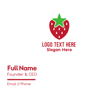 Strawberry Star Business Card