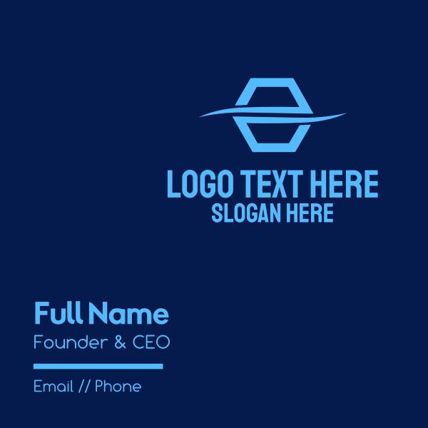 Split Hexagon Company Business Card