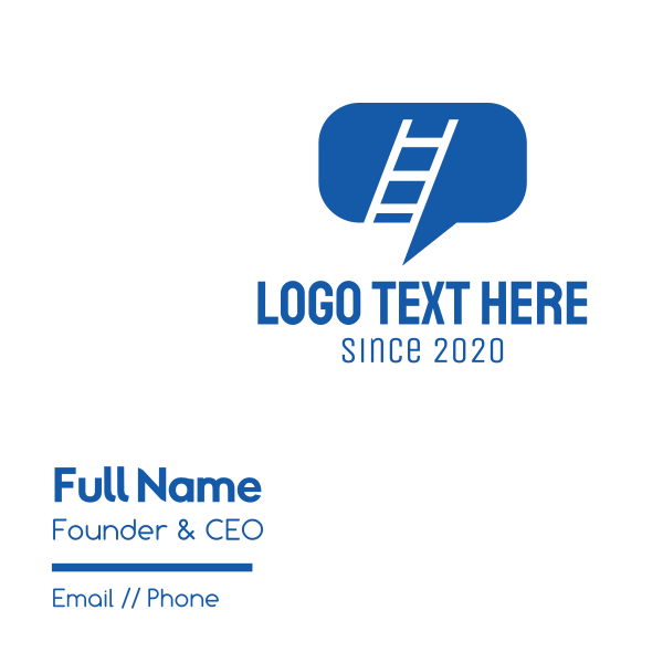 Blue Ladder Chat Business Card
