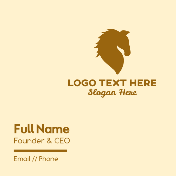 Golden Horse Business Card