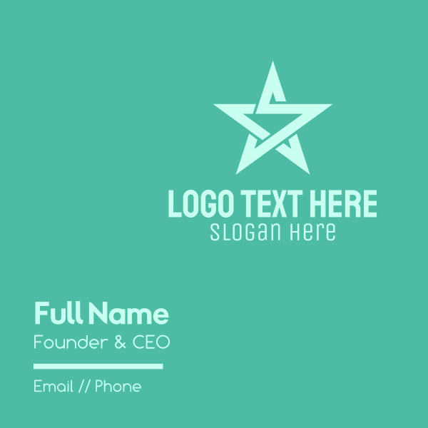 Star Letter S Business Card