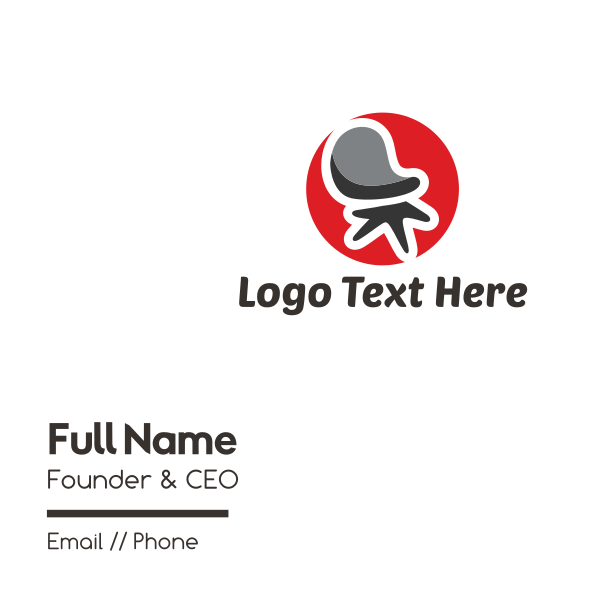 Office Chair Furniture Business Card