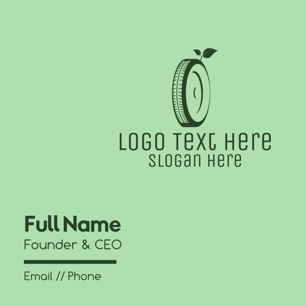 Eco Green Tyre Business Card