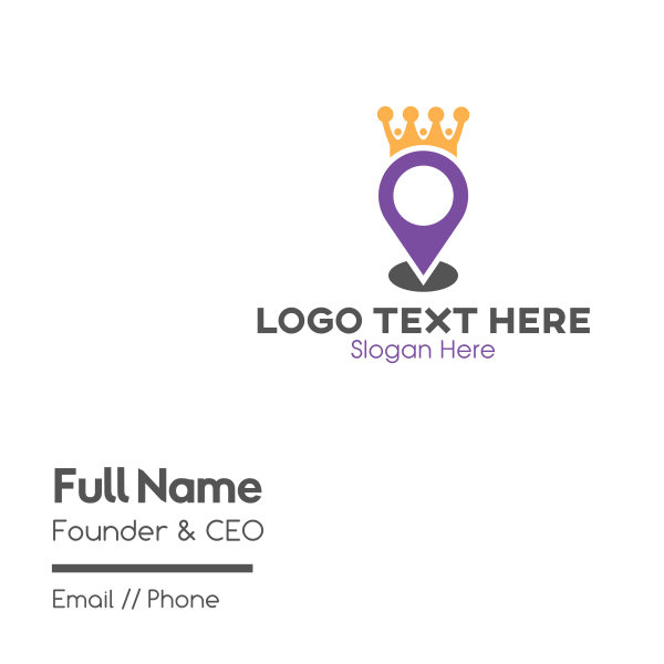 King Maps Business Card