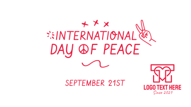 International Day of Peace Scribble Facebook event cover