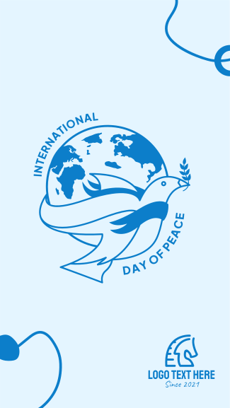 Day Of Peace Globe Facebook story