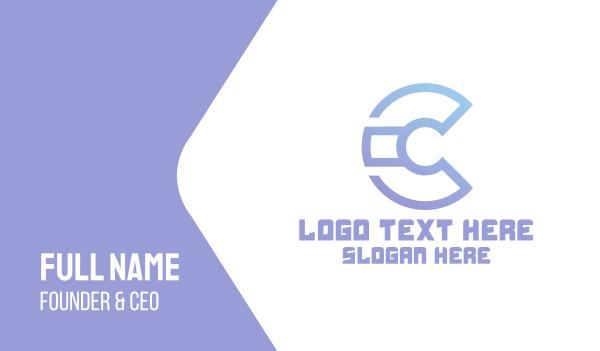 webpage - Modern C Technology Business card horizontal design