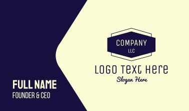 Company Emblem Business Card