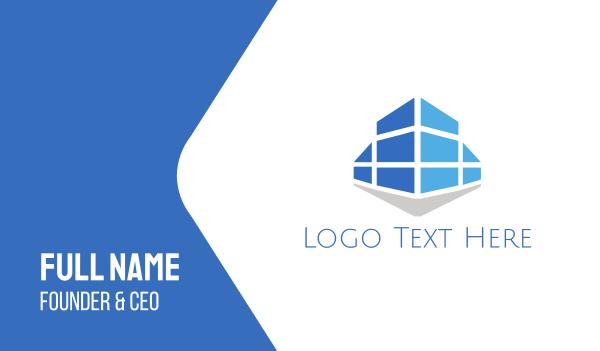 blue city - Blue Building Business card horizontal design