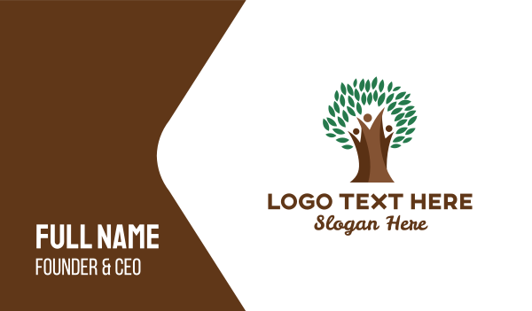 thick - Thick Tree Trunk Business card horizontal design