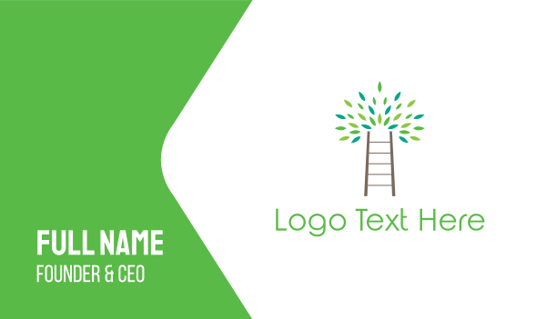 peace of mind - Ladder Tree Business card horizontal design