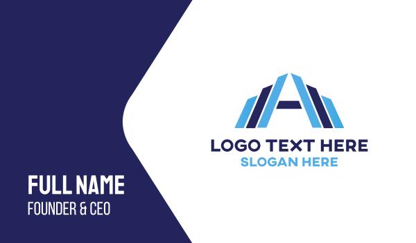 blue city - Letter A Building Business card horizontal design