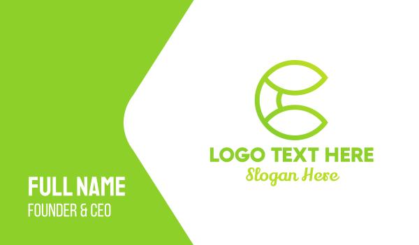 green energy - Modern Nature C Business card horizontal design