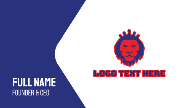 silhouette - Lion Crown Business card horizontal design