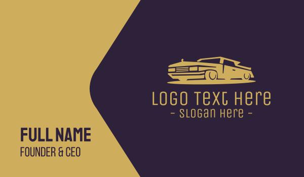 cab - Vintage Classic Car Business card horizontal design