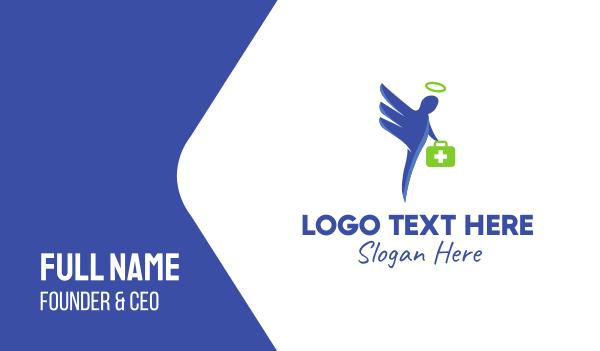 first aid - Medicine Angel Business card horizontal design