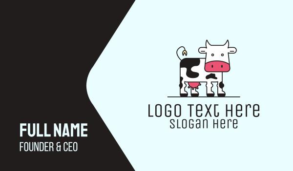 milkman - Dairy Milk Cow Business card horizontal design
