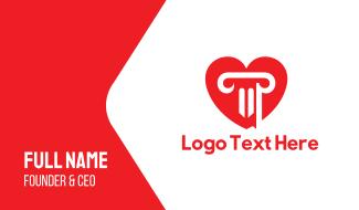 Heart Column Business Card