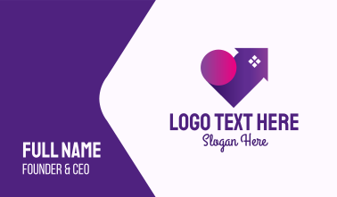 Purple Lovely Home Business Card