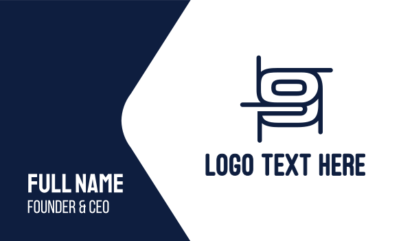 number 9 - Draft Number 9 Business card horizontal design