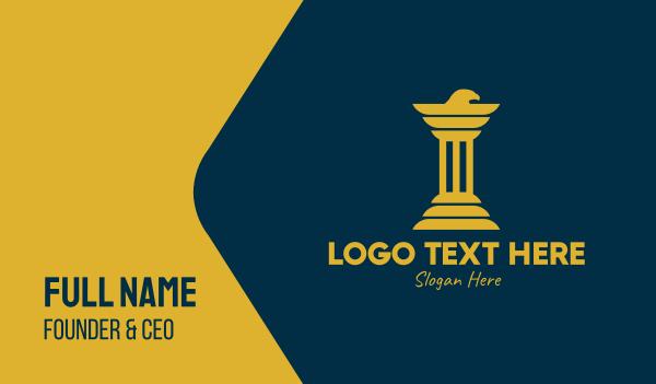 eagle - Eagle Business Pillar  Business card horizontal design