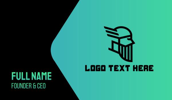 wisdom - Odin God Esports Gaming Business card horizontal design